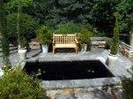 A formal garden feature