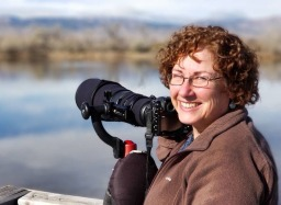 Leslie birding in Boulder