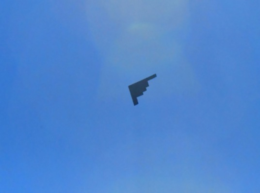 B2 Stealth Bomber, wingspan 172 FEET